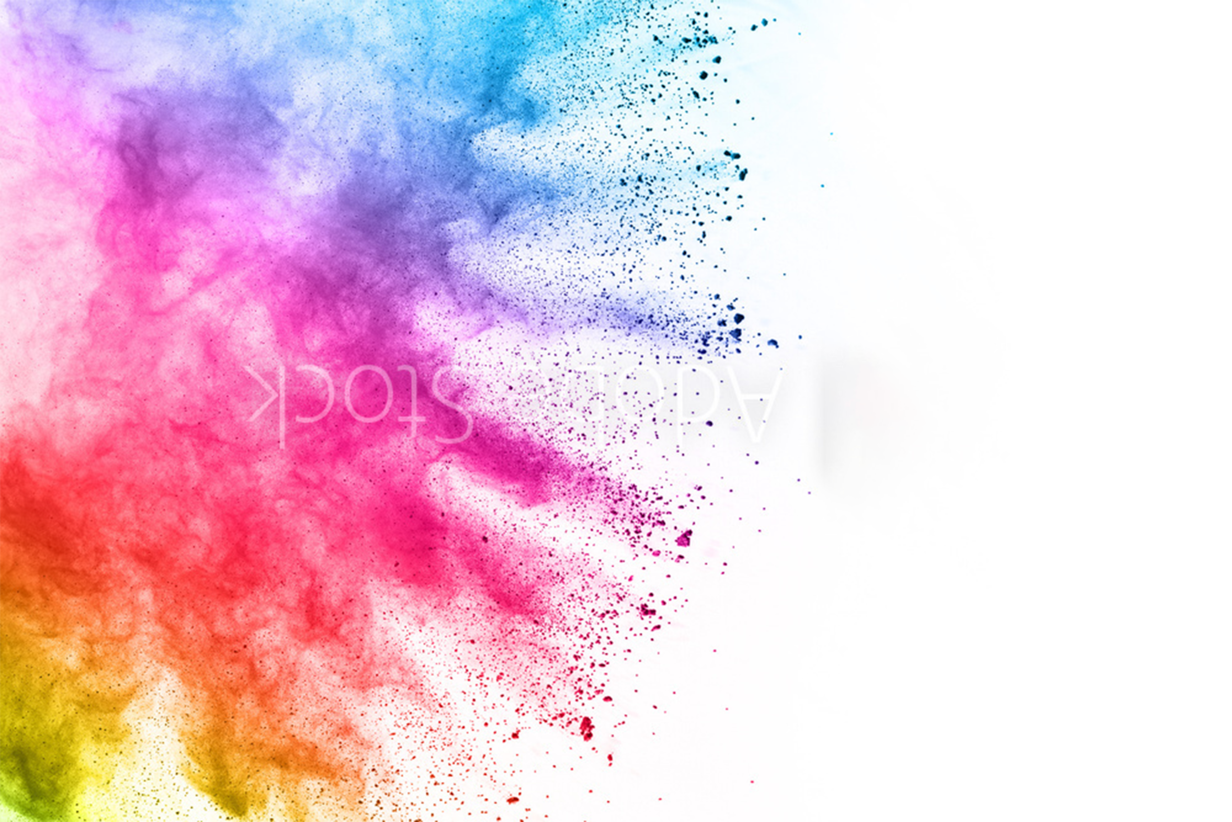 Colorful powder explosion on white background.png