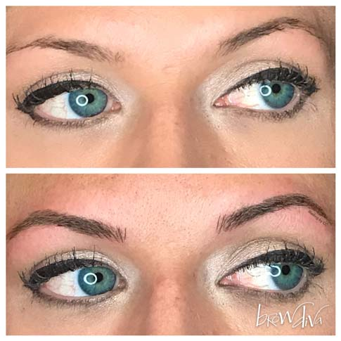 Microblading before and after 1