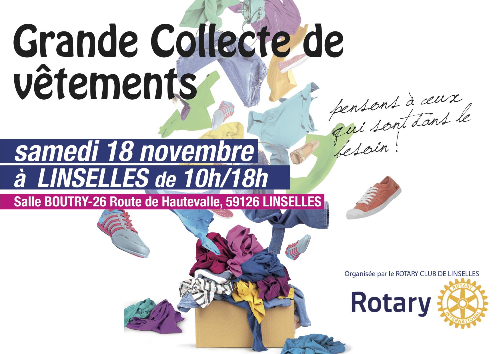 GRANDE COLLECTE DE VÊTEMENTS - NOVEMBRE 2017