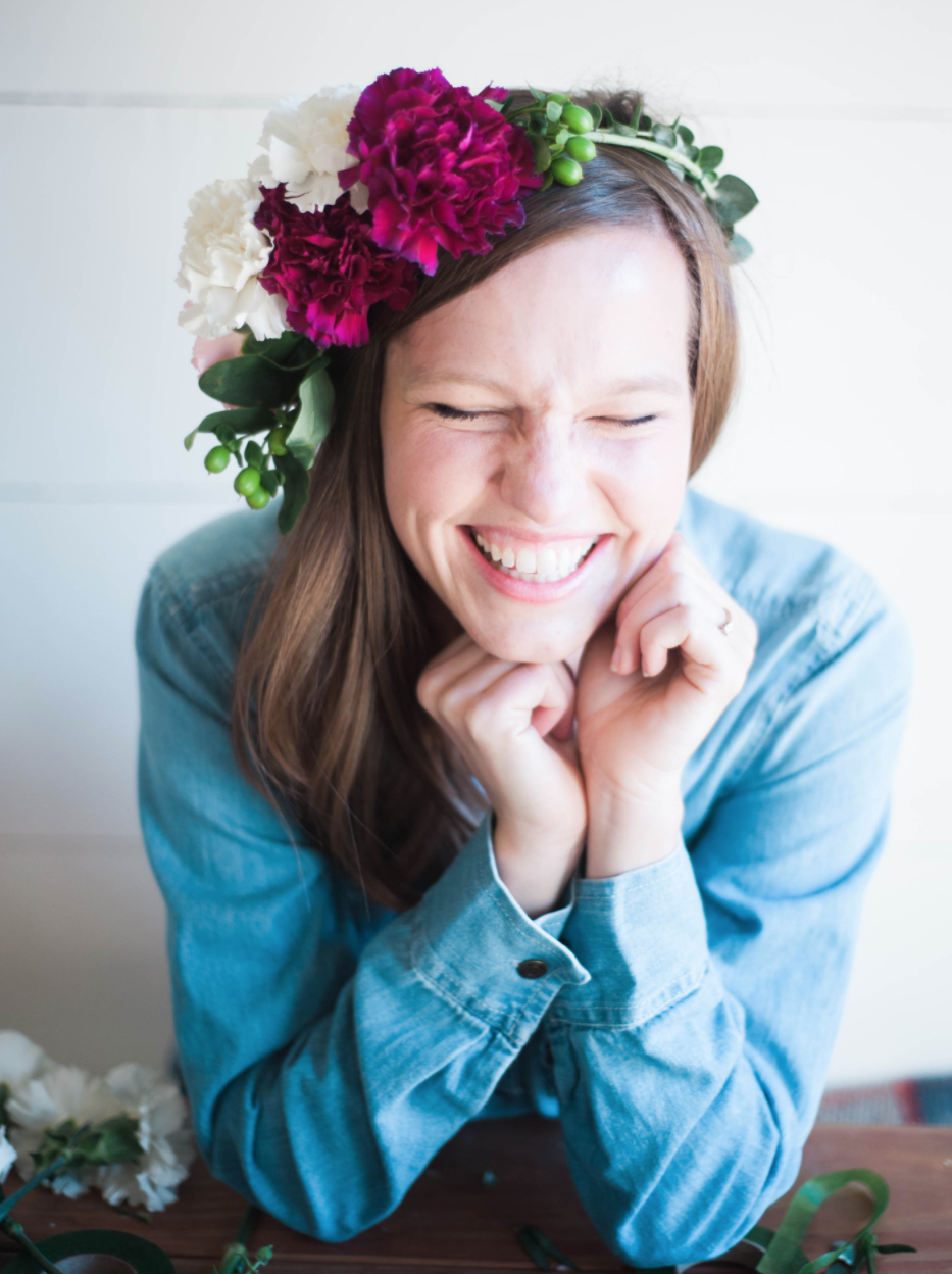 "IN RETAILER  ::  ""DIY FLORAL CROWN"" WITH KROGER & OAKS & OATS"