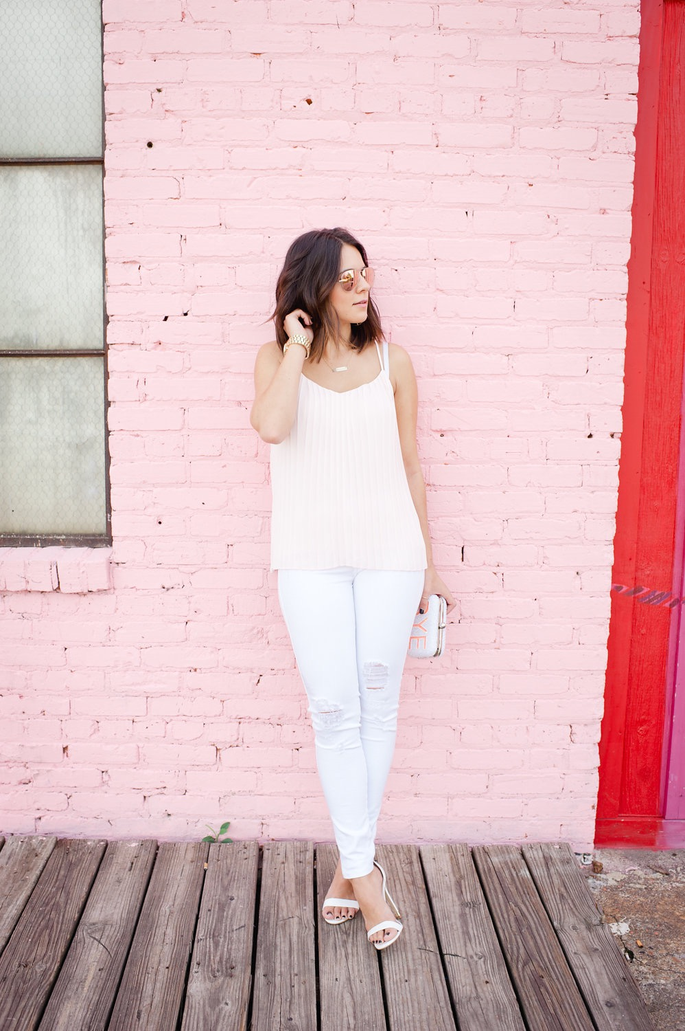 Found in Ahalogy Muse:   Pleated Pink Tank Top  , My Style Vita