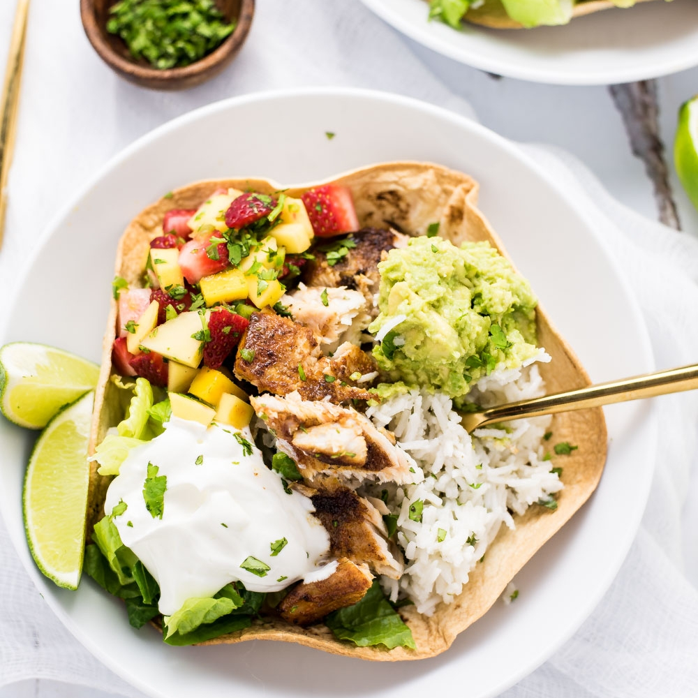 Grilled Fish Burrito Bowls by Cooking And Beer