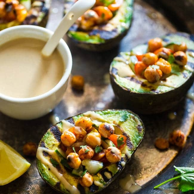 Mediterranean Grilled Avocado by Food Faith Fitness