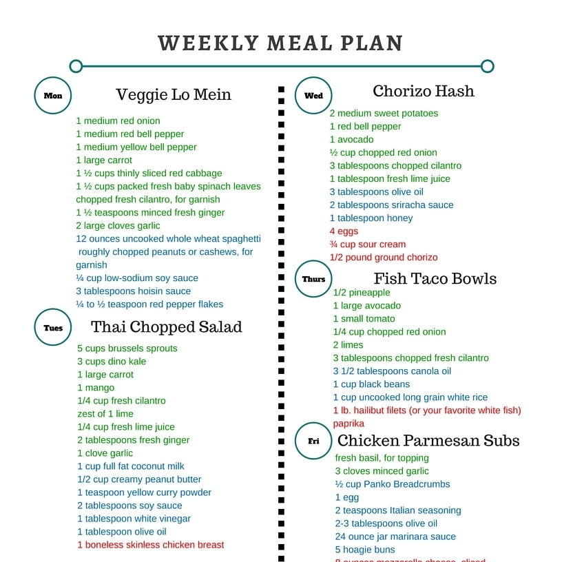 Healthy Weekly Meals by The Roasted Root