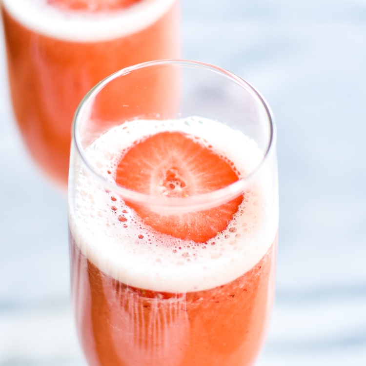 Strawberry Beermosas by Cooking And Beer