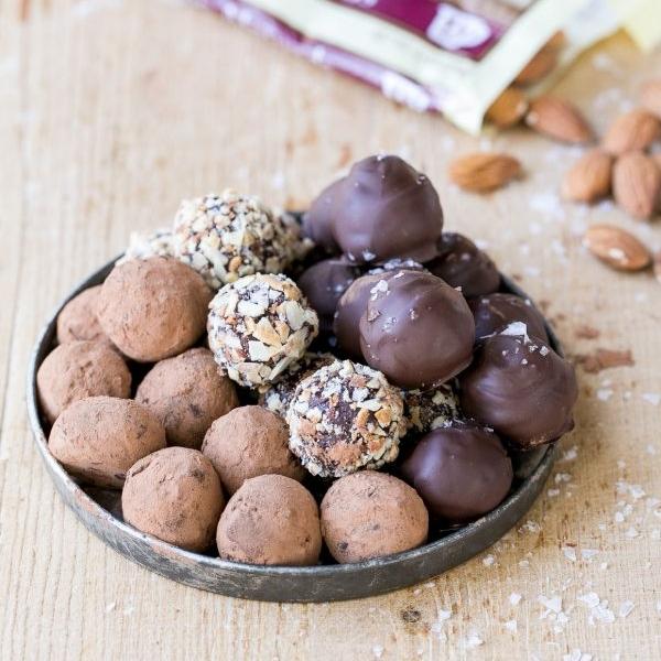 Salted Almond Chocolate Truffles