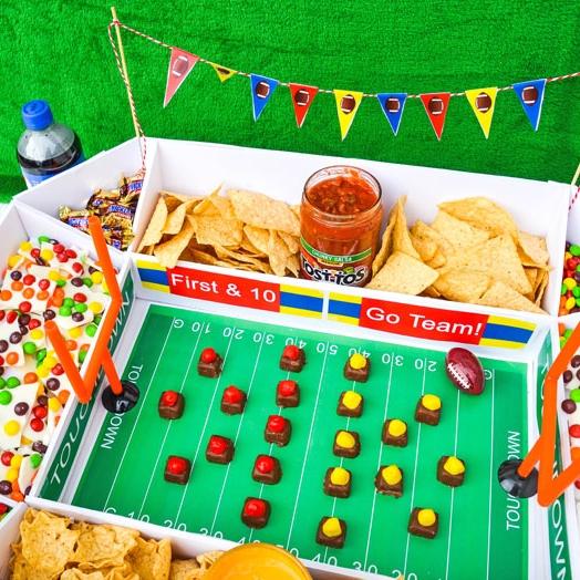 DIY Game Day Snack Stadium