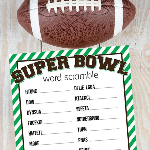 Super Bowl Word Scramble
