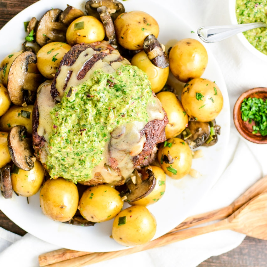 Braised Lamb with Chimichurri