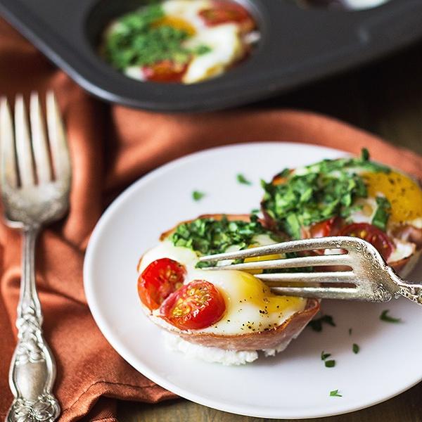 Ham & Egg Breakfast Cups