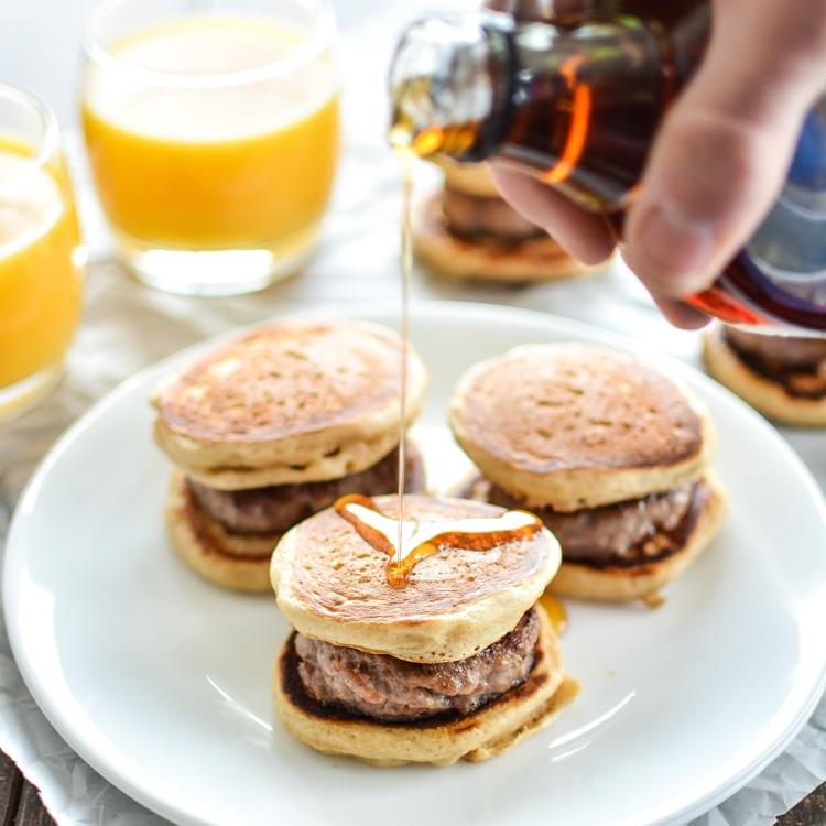 Mini Pancake Sandwiches