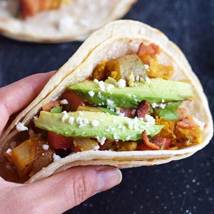 Sriracha Breakfast Tacos