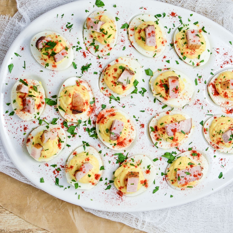 Pork Belly Deviled Eggs