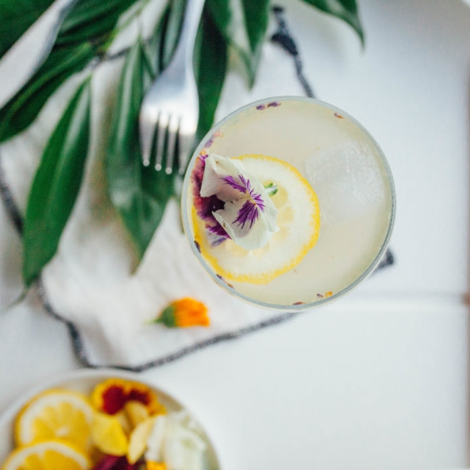 Lavender Honey Lemon Cocktail