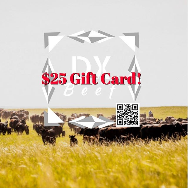 Let's start off 2018 right, with a gift card #giveaway!  Like, share, or tag us on Instagram & Facebook and be entered to win a $25 gift card! Drawing will be January 8 @ 1 PM Central Time!  #DXBeef #Beef #contest #cows #giftcard