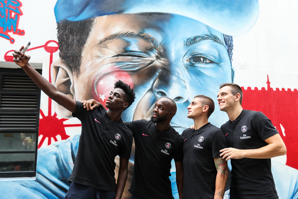PSG Players during their stay in Singapore for the International Champions Cup