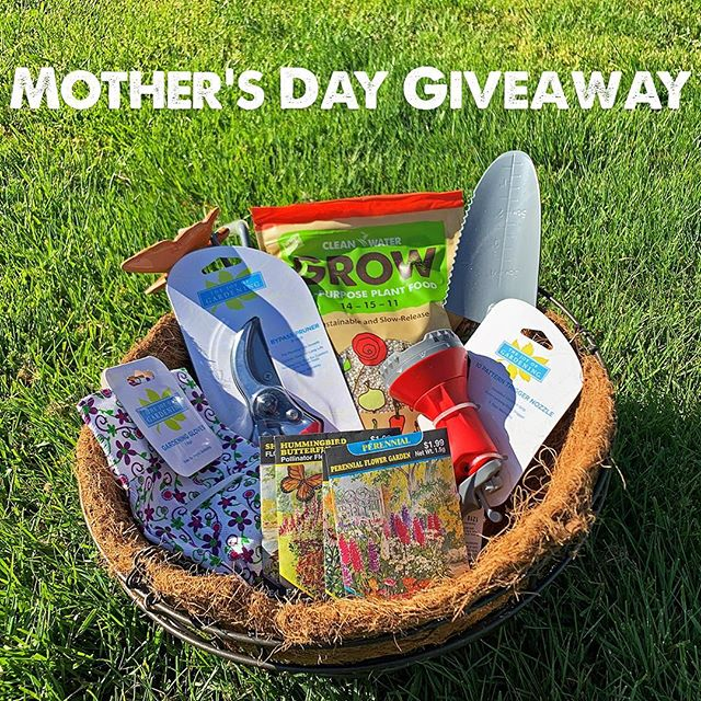 🌟Giveaway Time!🌟 . Give your mom the gift of sustainable gardening this year! Simply follow us and comment below to enter to win the contest. Want an extra entry? Comment on our Facebook post as well (link in bio). . Winner will be selected on Wednesday, 5/8 and will receive Clean Water Grow Plant Food, trowel, cultivator, hose nozzle, bypass pruner, gardening gloves, flower seeds, ceramic butterfly planter decoration and hanging basket! . Must be able to pickup at our Hillsboro offices during office hours.