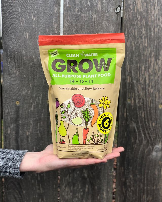 We get asked if GROW can be used on houseplants- the answer is yes! GROW's a great choice because it's slow release; you only need to apply it once a year to feed your houseplants throughout their whole growing season. 🌱