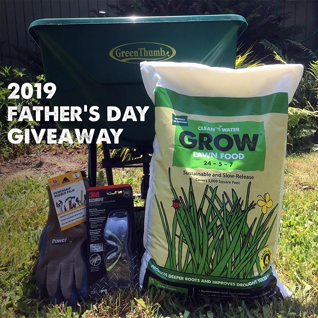 🌟Giveaway Time! 🌟 Give your dad the gift of a lush green and sustainable lawn! To enter, simply follow us and comment below. .  Winner will be selected Wednesday, 6/12 and will receive Clean Water Grow Lawn Food, broadcast fertilizer spreader, safety goggles and gloves. . Winner must be able to pick up at our Hillsboro offices during office hours.