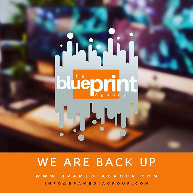 WE ARE BACK!! We were down this week but we are fully back up as of NOW!!! #BPAMediaGroup #artistmanagement #NewArtist #artistdevelopment