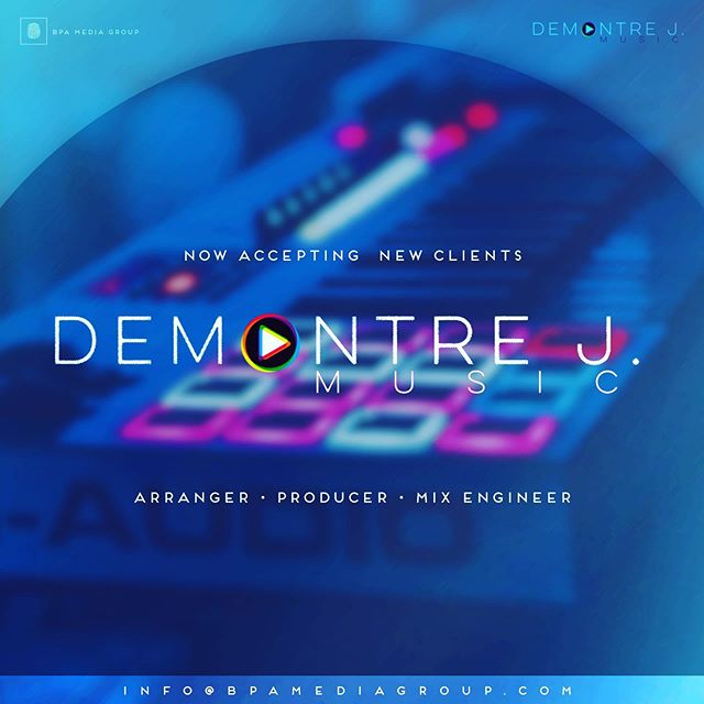 We are now accepting new clients! @demontrejmusic is AMAZING and would love to work with you! #GospelArtist #MusicArrangment #Producer #mixegineer #newgospelartist