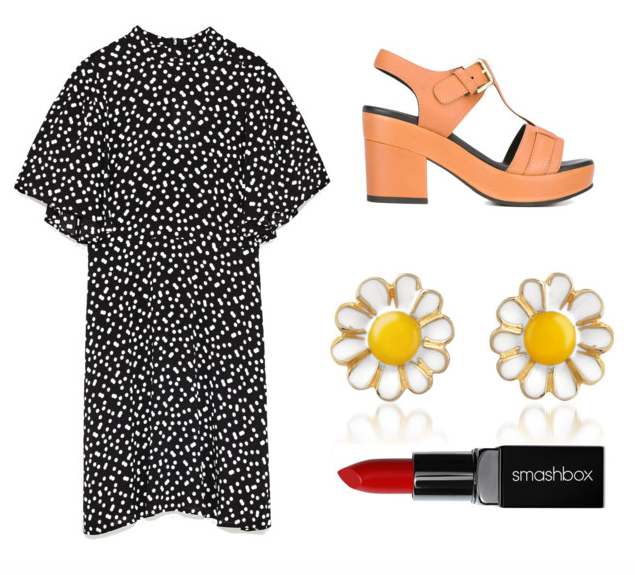 Dress ,  Shoes ,  Studs ,  Lipstick
