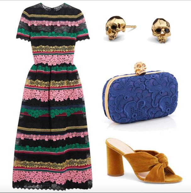 Dress ,  Studs ,  Bag ,  Shoes
