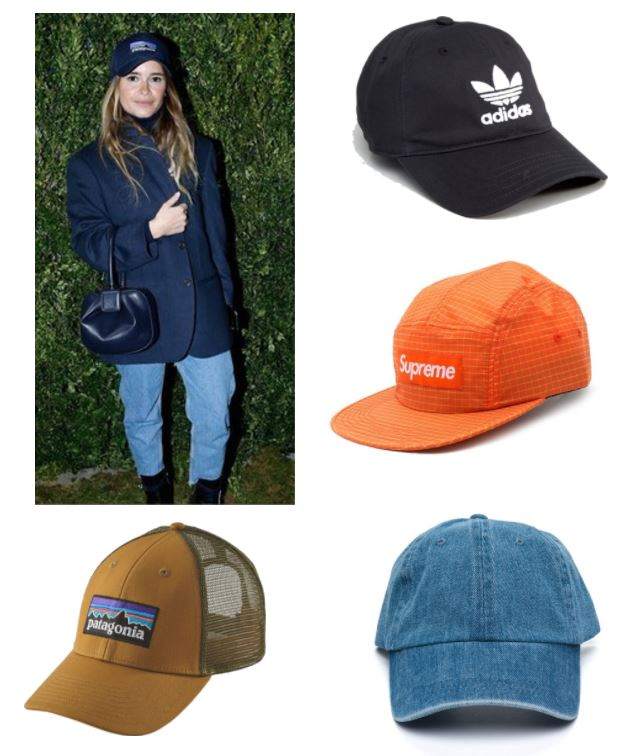 1. Patagonia   2. Black Adidas  (or  similar hat that supports the ACLU ) 3. Orange Supreme (so not worthy of wearing this coolest hat but I just MIGHT!)   4. Denim