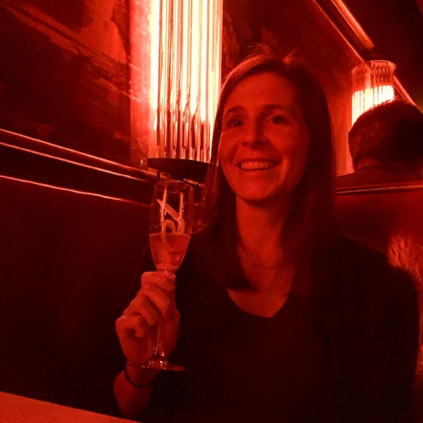with a champagne cocktail at  The California Clipper , one of her favorite spots in Chicago