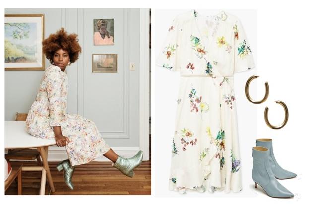 1.  Latonya's dress  2.  Floral dress  3.  Earrings  4.  Boots