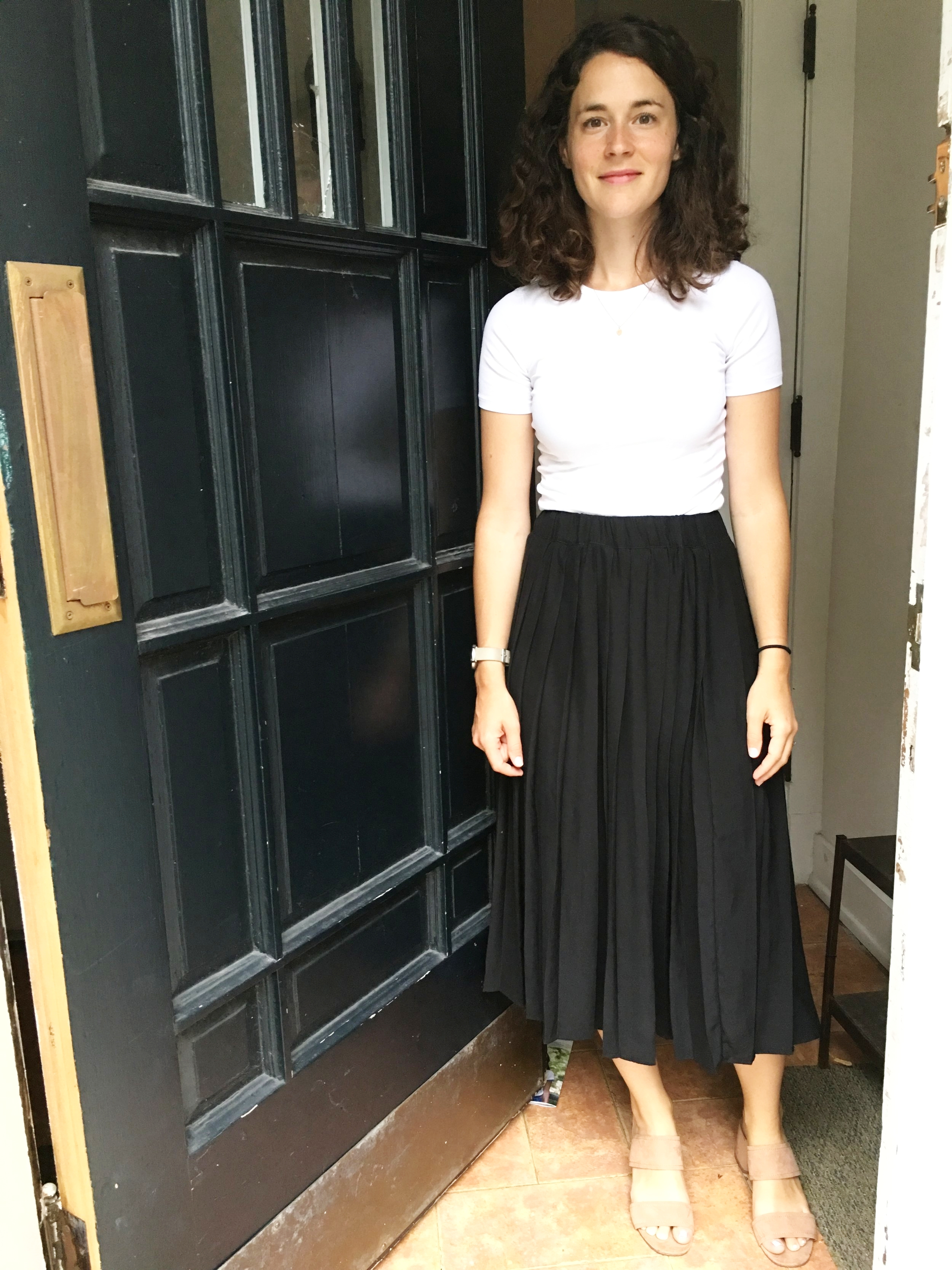 This skirt is from Everlane.   Find it here