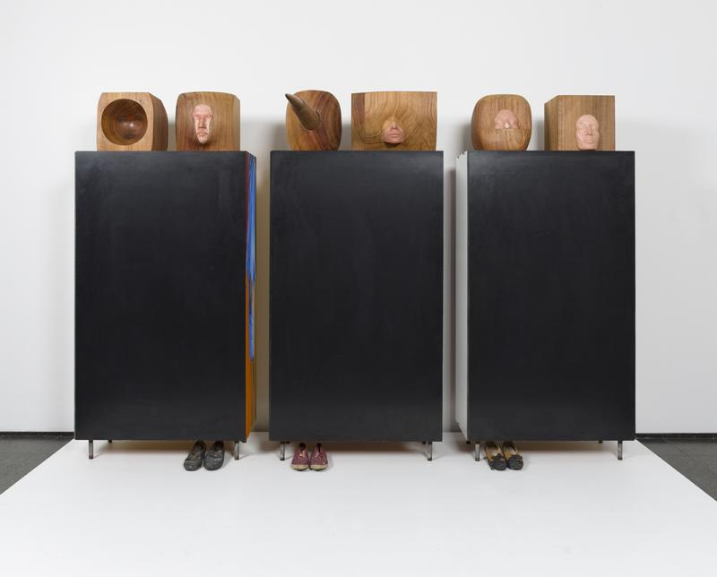 Six Sisters by Marisol, this piece was the inspiration for the restaurant, it's currently on view at the MCA.