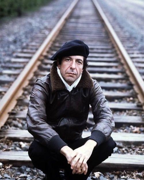 The late Leonard Cohen. Major style points, Nina!