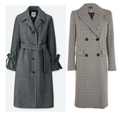 Uniqlo coat ,  Topshop coat