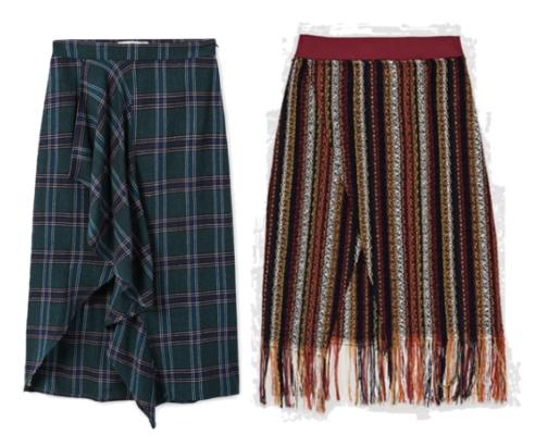 Mango ruffled skirt ,  Zara tweed ruffled