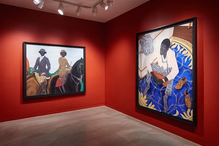 LEFT: Toyin Ojih Odutola, Hunting Season (Mother and Daughter), 2016, Charcoal, pastel and pencil on paper, RIGHT: Toyin Ojih Odutola, A Misunderstanding with the Mistress, 2016, Charcoal, pastel and pencil on paper 79 1⁄2 x 60 inches (paper) 83 1⁄2 x 66 x 2 1⁄2 inches (framed) Courtesy the artist and Jack Shainman Gallery, New York(Image via Vice)