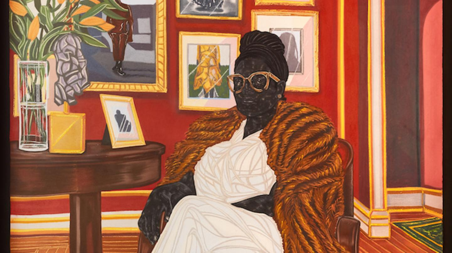 Toyin Ojih Odutola, The Marchioness, 2016, Charcoal, pastel and pencil on paper. (Image via VICE).