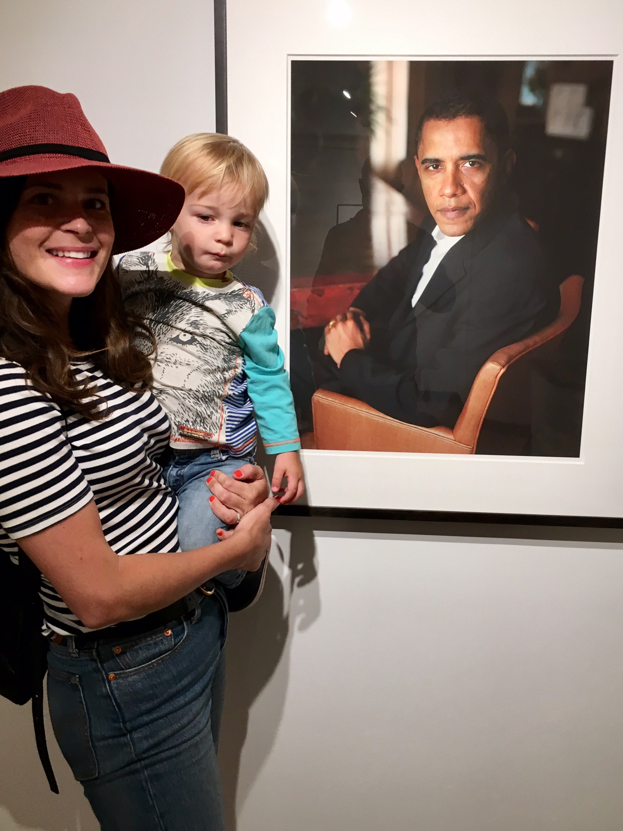 Me and James in front of Dawoud Bey's  Obama  at the MOCP in Chicago, genius!