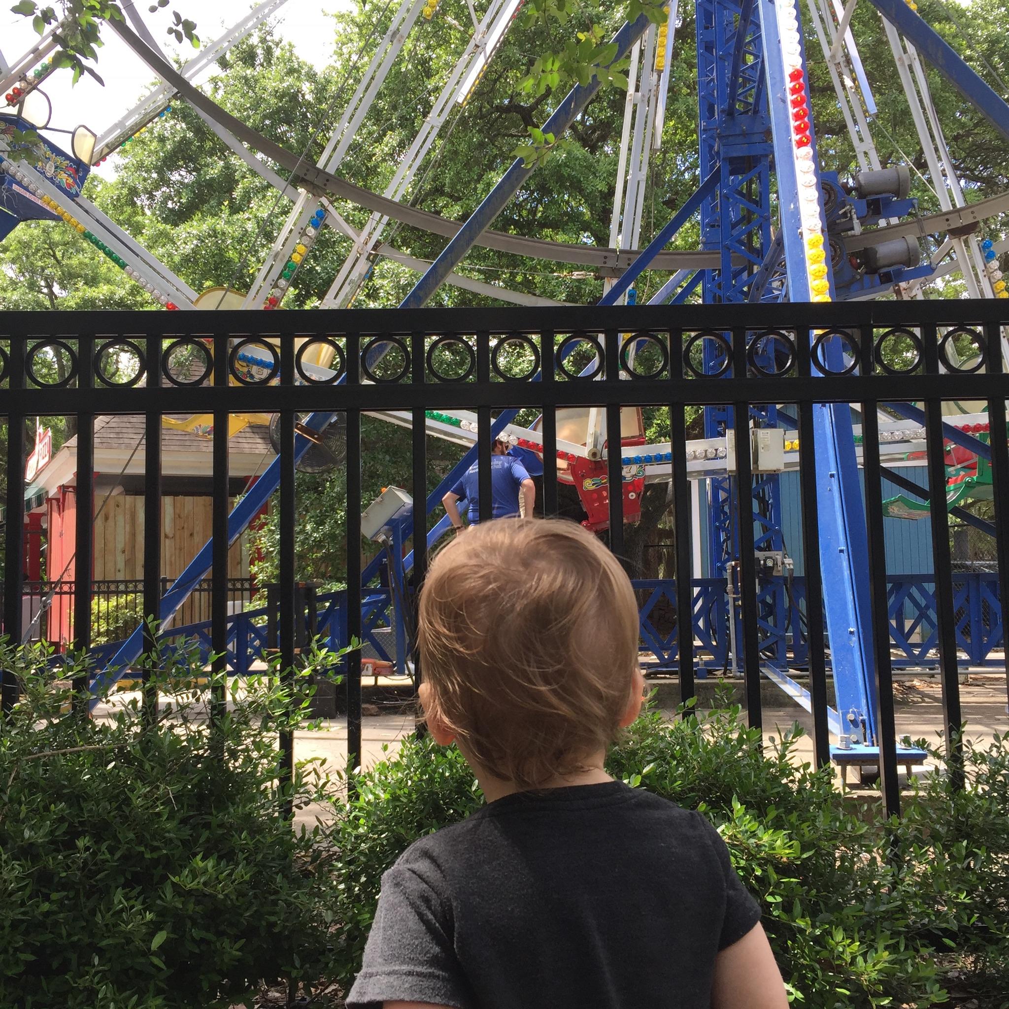James at the City Park Amusement Park.