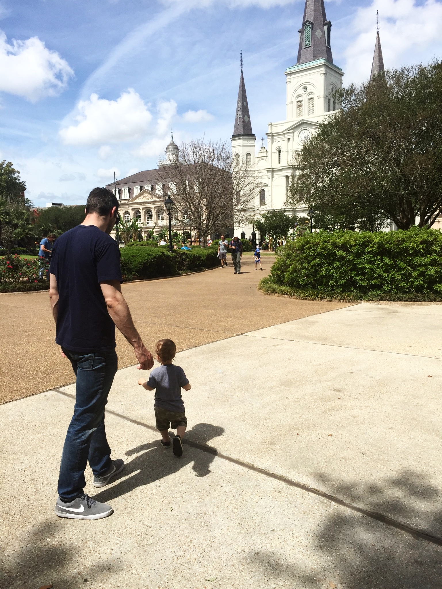 James on the loose in Jackson Square.