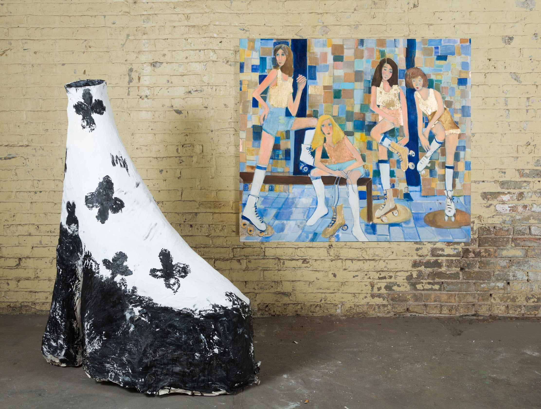 """Chunky platform shoe"" sculpture"