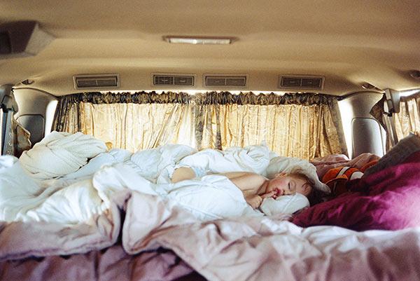 Justine Kurland, Untitled (Sleeping in Van), 2006