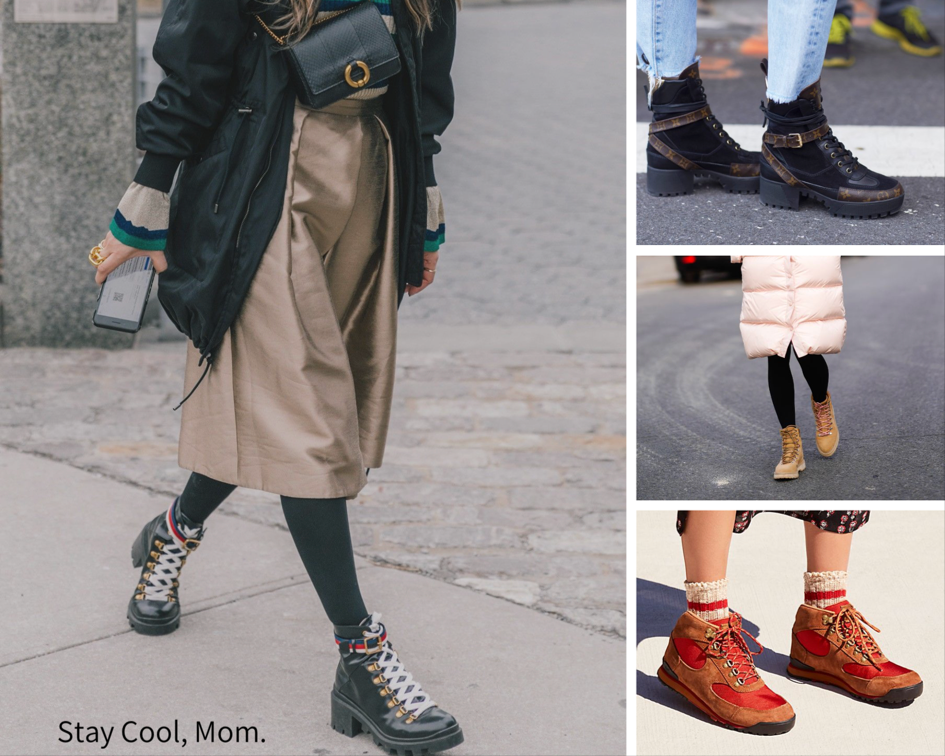 Various and sundry cool moms sporting sporty boots.