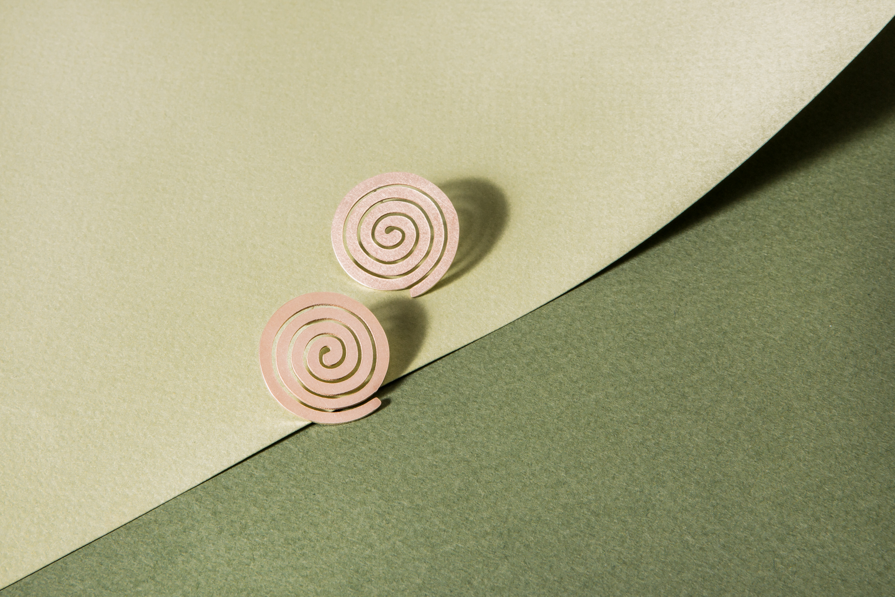 Cities in Dust Small Spiral Earrings- $56