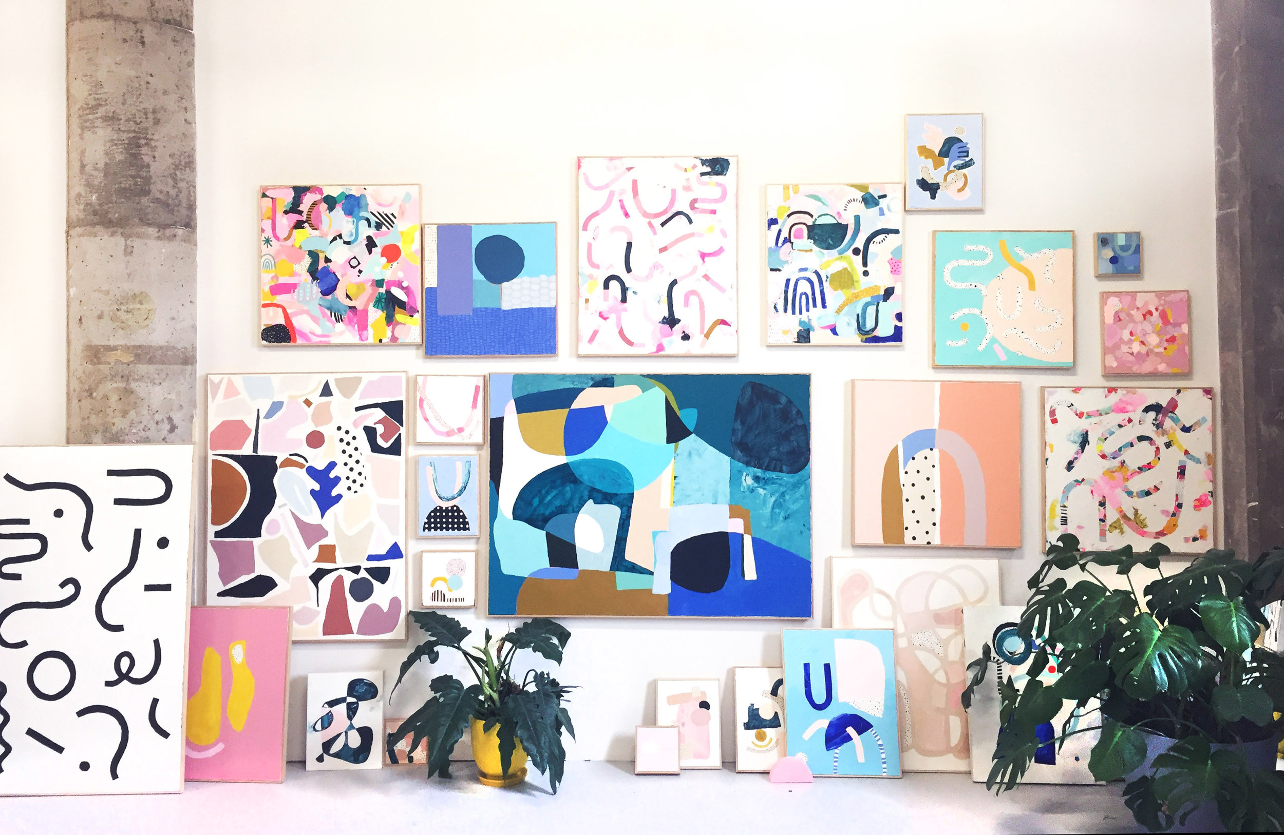 Various paintings by  Ashley Mary