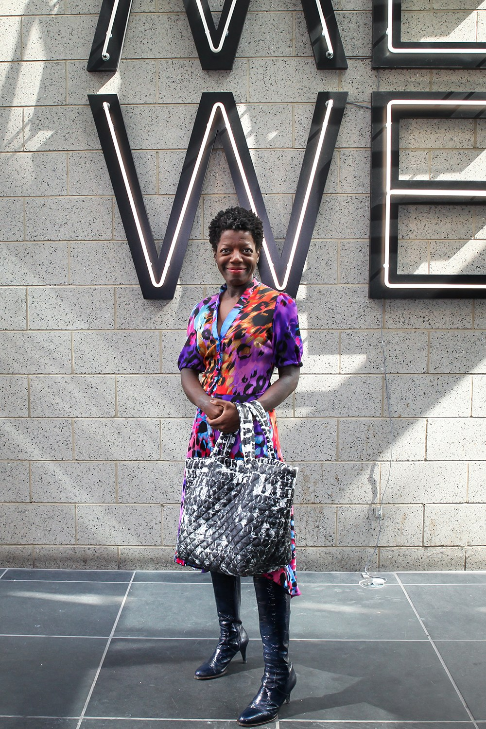 In cool clothes again (Via  Vogue ). Her husband is clothing designer  Duro Olowu , so that helps.