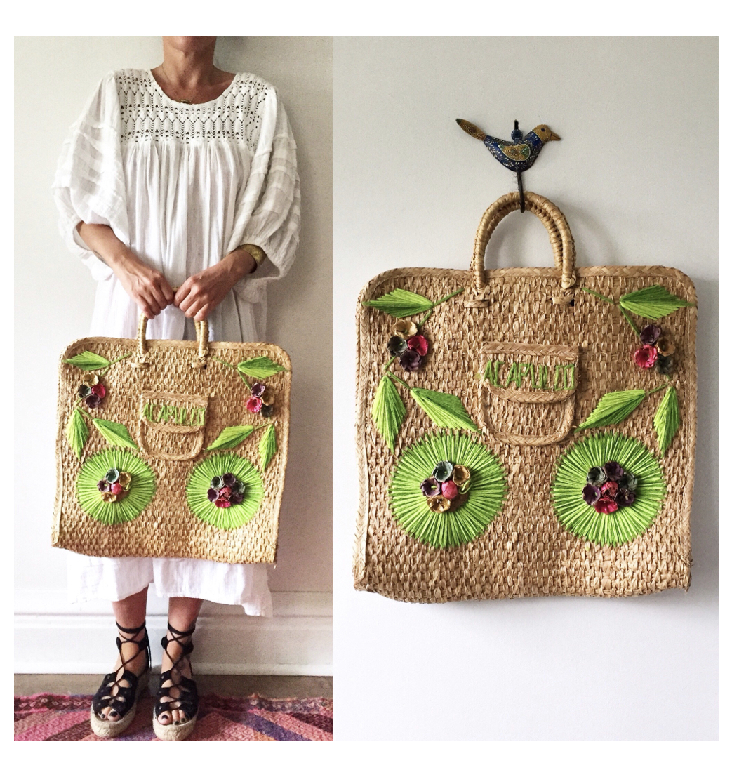 Straw Beach Bag  or  this INSANE beaded one ?