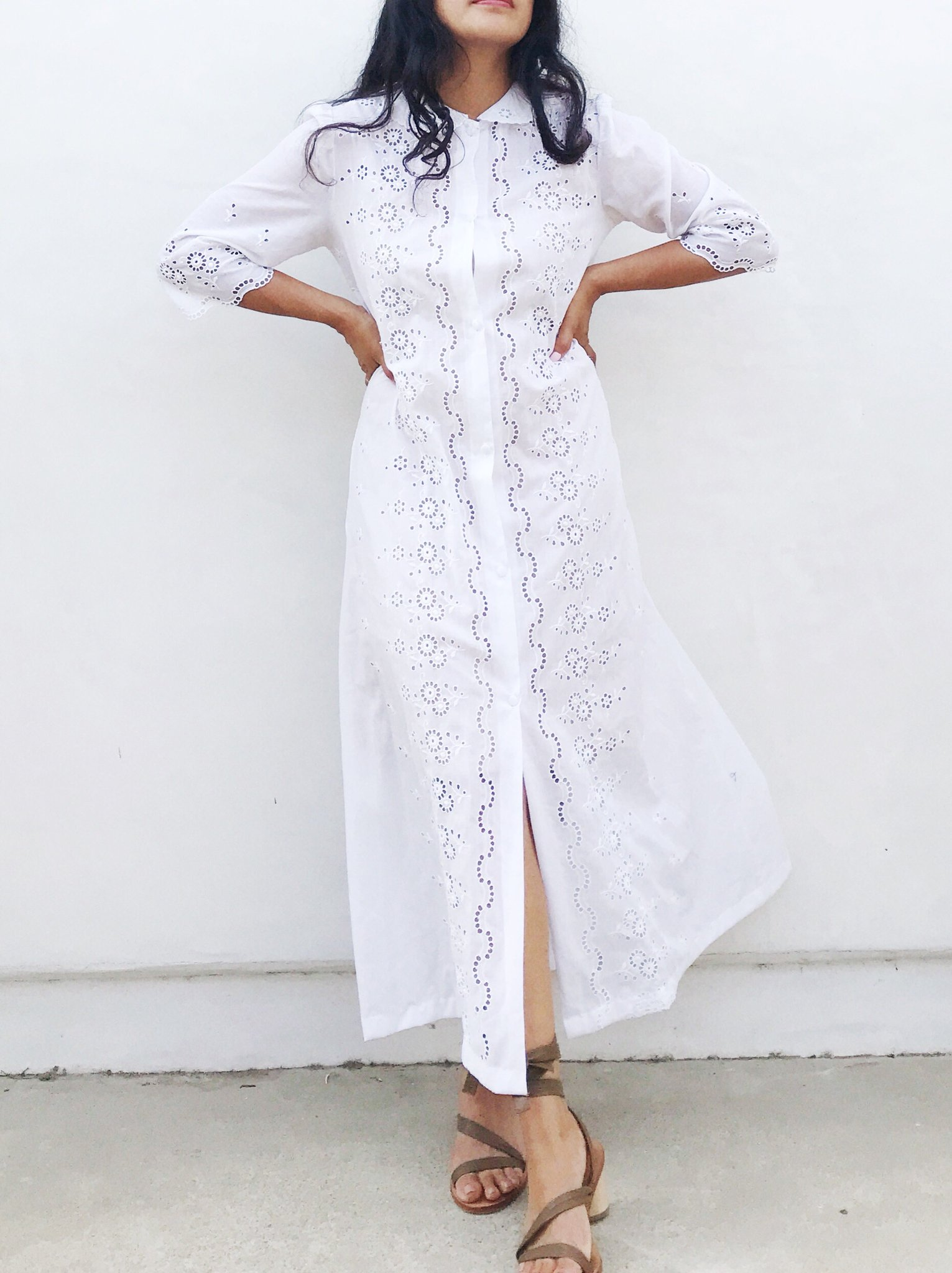 Vintage Neiman Marcus Eyelet Dress