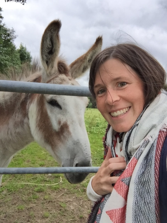 Molly with donkey friend
