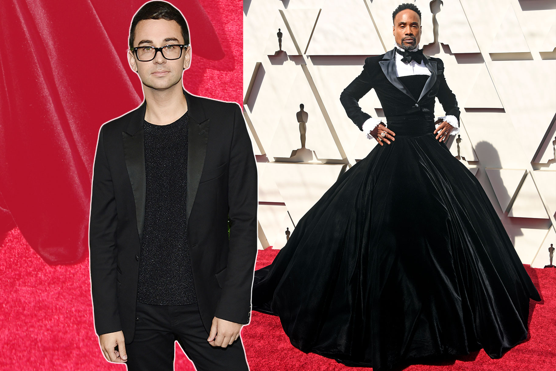Christian Siriano (left) and Billy Porter (right) wearing a design by Siriano- via  Bravo